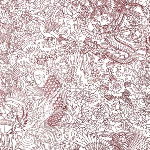 WH0 00043303 HORIMONO Grenat Scalamandre Wallpaper