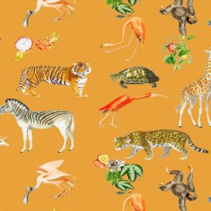 WNM 0003 EXOT EXOTIX Tangerine Scalamandre Wallpaper