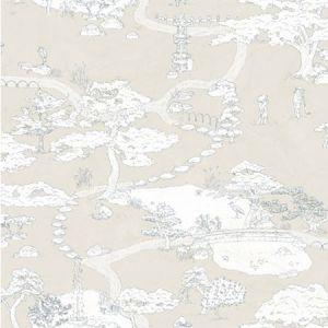 WSB 0029 0239 KENROKUEN Beige Sandberg Wallpaper