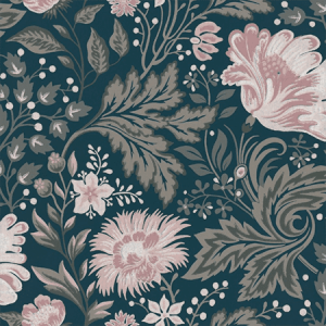 WSB 00960400 AVA Dark Blue Pink Sandberg Wallpaper