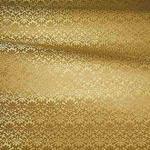ZA 1789CALO CARLOS SMALL DAMASK Gold Old World Weavers Fabric