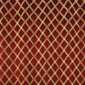 ZA 2128REAL REALE DIAMOND Cherry Gold Old World Weavers Fabric