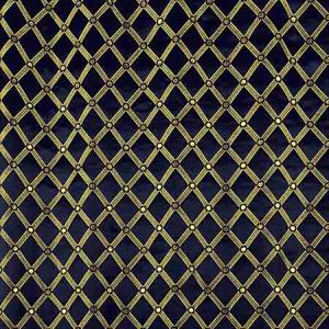 ZA 2129REAL REALE DIAMOND Midnight Old World Weavers Fabric