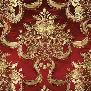 ZA 2157RNAS REALE NASTRI Cherry Gold Old World Weavers Fabric