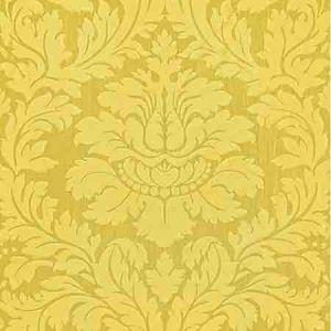 ZA 2160REGI VILLA REGINA DAMASK Lemon Old World Weavers Fabric