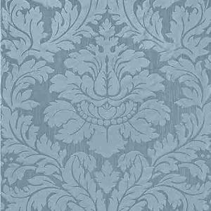 ZA 2164REGI VILLA REGINA DAMASK Blue Old World Weavers Fabric