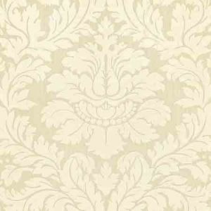 ZA 2165REGI VILLA REGINA DAMASK Ivory Old World Weavers Fabric