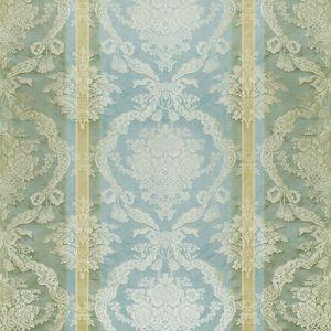 ZA 2192PTRS PETRARCA STRIPE Celadon Sky Old World Weavers Fabric