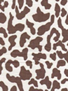 6085-08 ZEZE LEOPARD Brown on Tint Quadrille Fabric