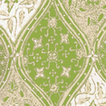 6630 03wp Balinese Batik New Green Cream On White Quadrille Wallpaper Discount Fabric And Wallpaper Online Store