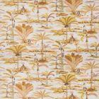 Vervain Island Palms Ochre Fabric