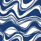 Schumacher Carmel Coastline Print Surf Fabric