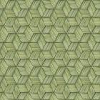 PS41414 INTERTWINED Green Geometric Brewster Wallpaper