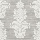 PS40700 PINEAPPLE GROVE Gold Damask Brewster Wallpaper