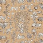178322 ANIMALIA Carbon Sienna Schumacher Fabric