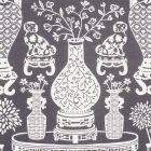 178552 HELLENE Black Schumacher Fabric
