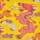178591 MAGICAL MING DRAGON Yellow Schumacher Fabric