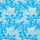 5010881 RUAN DRAGON DAMASK Blue Schumacher Wallpaper