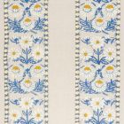 72332 MARGUERITE EMBROIDERY Blue Ochre Schumacher Fabric