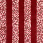 77143 GUEPARD STRIPE VELVET Red Schumacher Fabric