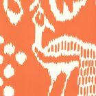 2430-45WP BALI II Orange On Off White Quadrille Wallpaper