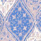 6630-02WP BALINESE BATIK French Blue Cream On White Quadrille Wallpaper