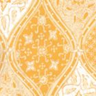 6630-06WP BALINESE BATIK Inca Gold Cream On White Quadrille Wallpaper