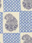 5090-03 BANGALORE Navy French Blue on Tint Quadrille Fabric