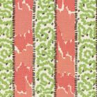 5060-02 BIJOU STRIPE Jungle Green New Shrimp Brown Quadrille Fabric