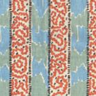 5060-01 BIJOU STRIPE New Blue Brown New Shrimp Quadrille Fabric