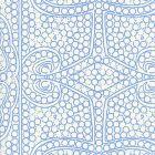 CP1000W-04 PERSIA New Blue On Almost White Quadrille Wallpaper