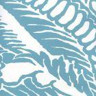 CP1040W-01 ANTOINETTE Turquoise On White Quadrille Wallpaper