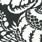 CP1040W-08 ANTOINETTE Black On White Quadrille Wallpaper