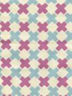 4120-13 DOUBLE CROSS Lilac with New Blue Quadrille Fabric