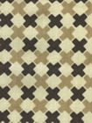 4120-08 DOUBLE CROSS Multi Taupe with Brown Quadrille Fabric