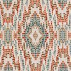 F0691/08 MOSAIC Teal Clarke & Clarke Fabric