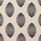 F0719/04 KINDU Indigo Clarke & Clarke Fabric