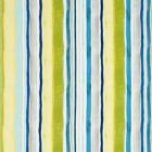F0831/01 SUNRISE STRIPE LINEN Aqua Citrus Clarke & Clarke Fabric