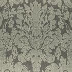 F0989/02 VALENTINA Charcoal Clarke & Clarke Fabric
