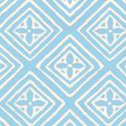 2490-20WP FIORENTINA Bali Blue On Off White Quadrille Wallpaper