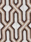 6300EM-21 GORRIVAN FRETWORK Brown and Taupe Custom Only Quadrille Fabric