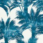 GW 0004 16610 PALM PRINT Turquoise Scalamandre Fabric