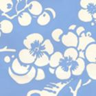 3015-30AWP HAWTHORNE REVERSE French Blue On Almost White Quadrille Wallpaper