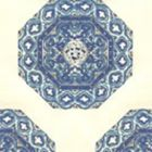 HC1700W-08WP MEDALLION Navy French Blue On Off White Quadrille Wallpaper