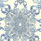 HC1980W-01AWP ISFAHAN Multi Celeste Blue Teal On Almost White Quadrille Wallpaper