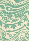 HC1880C-02 INDOCHINE PAISLEY French Green on Cream Quadrille Fabric