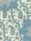 HC1970C-02 KASHMIR EXOTIQUE Blues  Quadrille Fabric