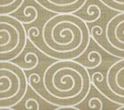 HC1475-07M MEDITATION REVERSE  Gold Metallic on Oyster Quadrille Fabric