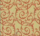 HC1310T-10 MERLOT Tomato on Tan Quadrille Fabric