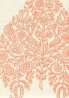 H1480P-06WP TAJ Melon On Off White Quadrille Wallpaper